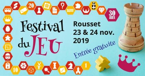 Affiche du Festival du jeu de Rousset
